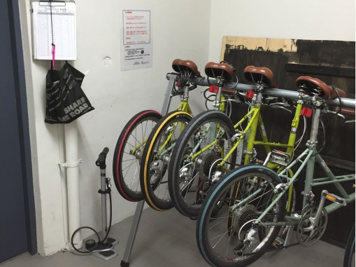 Shared bike and shared bike storage. Photo: MShieh