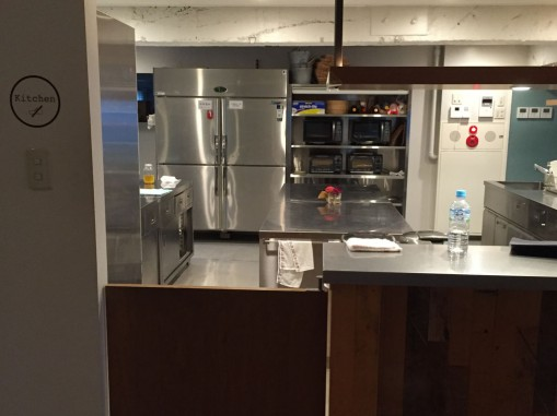 A shared gourmet kitchen in an apartment building. The ability to afford better quality appliances through sharing. Photo: MShieh